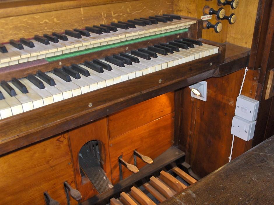 Close up of Church organ 2011